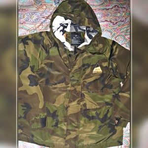 Basic Plan Camo Puffer Winter Coat